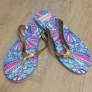Lilly Pulitzer flip flops